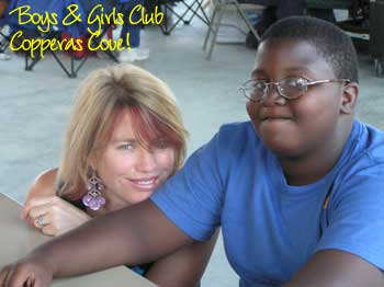 Sara and friend at the Boys & Girls Club in Copperas Cove, TX